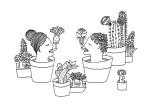 Julien Roux, Succulent Plant Serie- , Ink on paper 2014, , 21 x 15 cm