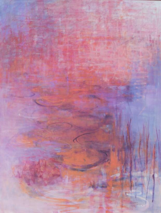 Cris Pink, Abendglut, 2015, Öl auf Leinwand, 116 x 90 cm