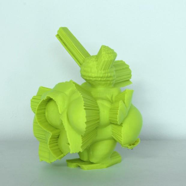 Fabian Hesse, Venus von Willendorf Remix II, 2014, PLA, Ed. 7, 17 x 15 x12 cm (auf Sockel: h 120cm)
