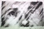 Van der Meulen, Houses, Nr. 3, 2016, 130 x 190 cm, Kohle, Radiergummi, Papier auf Holz montiert