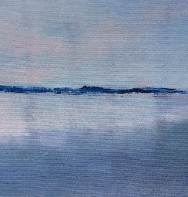 Cris Pink, Früh Morgens II, 2016, Öl auf Leinwand,  30 x 30 cm