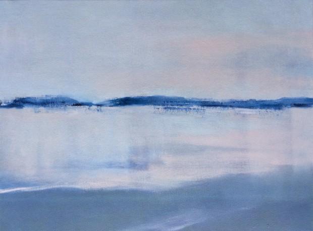 Cris Pink, Früh Morgens I, 2016, Öl auf Leinwand,  40 x 30 cm