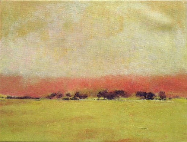 Cris Pink, Tramuntana, 2016, Öl auf Leinwand,  35,5 x27,5 cm