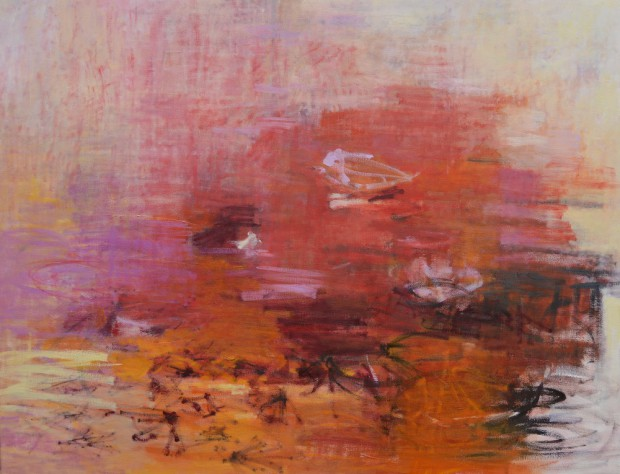Cris Pink, Low sun, 2014, Öl auf Leinwand, 116 x 90 cm