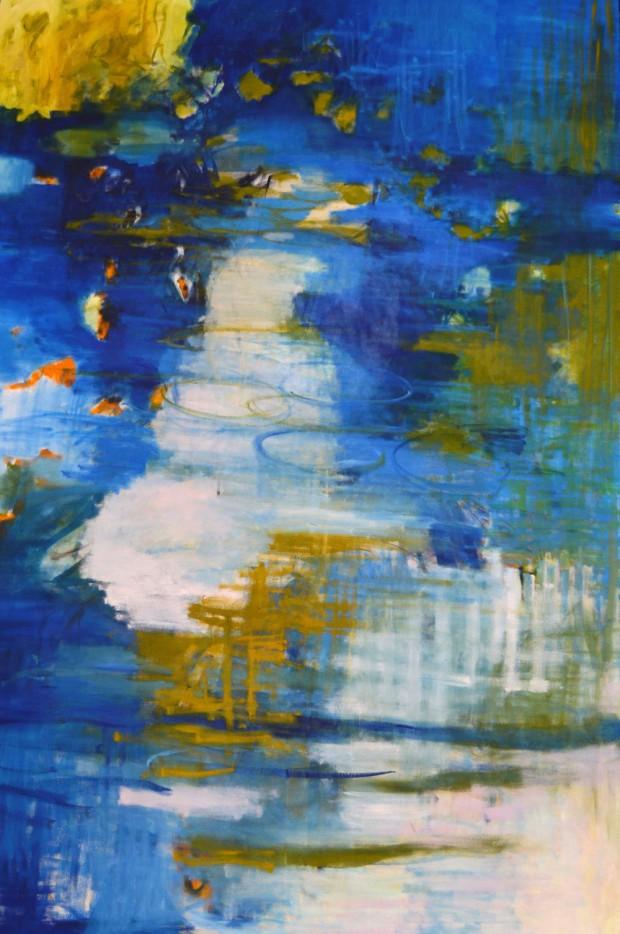 Cris Pink, Ofelia, 2012, Öl auf Leinwand, 195 x130 cm