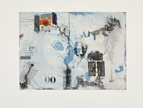 Erwachsene Schatten, 1986, Farbradierung, X/XXI, 30,5 x 42 cm