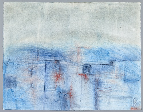 Flut auf List, 1983, Aquarell, 50 x 65 cm