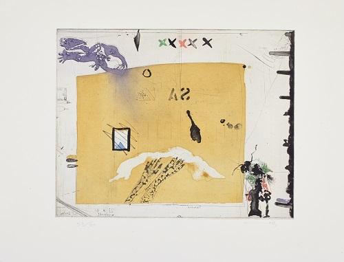 Schaubild, 1983, Farbradierung, 53/60, 30,5 x 39 cm