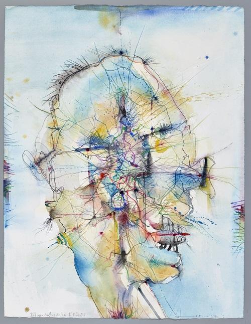 Ich als Sophist, 1990, Aquarell, 65 x 50 cm