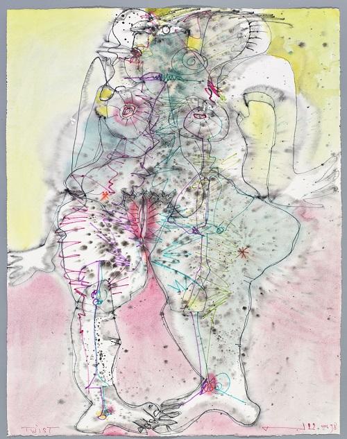 Twist, 1989, Aquarell, 65 x 50 cm