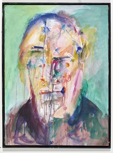 In Erinnerung verloren, 1990/2011, Acryl, Kohle auf Leinwand, 80 x 60 cm