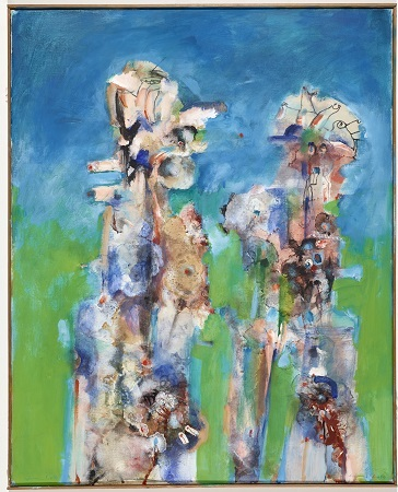 Adam und Eva, 1973/2010, Öl, Acryl auf Leinwand, 100 x 80 cm