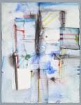 Fetisch,1995, Aquarell mit Collage, 65 x 50 cm