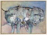 Urtier, 1990, Acryl auf Leinwand, 60 x 81 cm