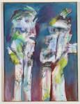 Schauspieler, 2008 (späte Überarbeitung), Acryl und Kohle auf Leinwand, 80 x 60 cm