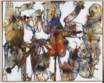 Wende Diagonal, 1995, Acryl auf Leinwand, 80 x 100 cm