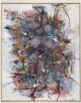 Gefühlsharfe, 1996 (überarbeitet 2001 und 2010), Acryl und Kohle auf Leinwand, 100 x 80 cm
