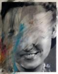 Valentin van der Meulen, Untitled 5, 2016, Kohle, Acryl, Radiergummi, Papier montiert auf Holz, 100 x 80 cm