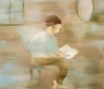 Barbara Petzold, lesende, 2016, 60 x 70 cm, Öl auf Leinen