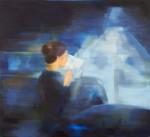 Barbara Petzold, nachtlicht, 2016, 110 x 120 cm, Öl auf Nessel