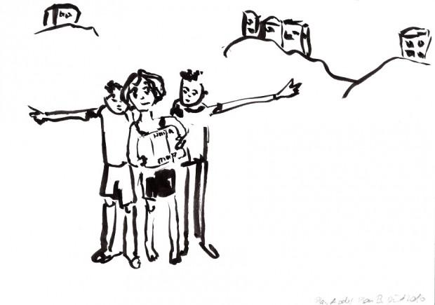 Barbara Petzold, plan a oder plan b, 2016, 14,8 x 21 cm, Tusche