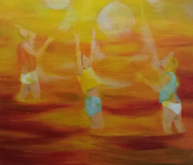 Barbara Petzold, red sea, 2016, 170 x 200m, Öl auf Leinwand