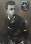Ransome Stanley, Boxer, 2015, 75 x 50 cm, Öl auf Leinwand