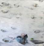 Ransome Stanley, Raum (weiß), 2016, 200 x 200 cm, Öl auf Leinwand