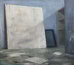 Ransome Stanley, Studio 2 (blau), 2016, 80 x 90 cm, Öl auf Leinwand