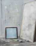 Ransome Stanley, Studio 5 (hellblau), 2016, 60 x 50 cm, Öl auf Leinwand