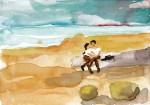 Barbara Petzold, soldiers in love, 2016, 17 x 24 cm, Bleistift u. Aquarell