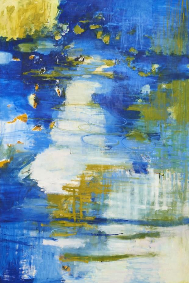 Cris Pink, Ofelia, 2012, Öl auf Leinwand, 195 x 130 cm