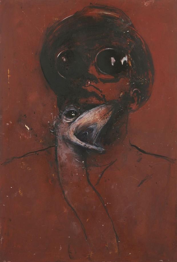 Ransome Stanley, Safari III, 2012, Mischtechnik, 100 x 70 cm