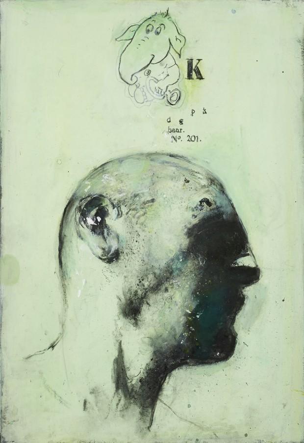 Ransome Stanley, Serie Safari I, 2012, Mischtechnik, 100 x 70 cm