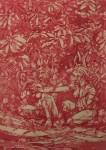 Bea Emsbach, Erscheinung, 2015, Kolbenfüller/Rote Tinte auf Papier, 21x30 cm
