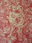 Bea Emsbach, Paar, 2015, Kolbenfüller/Rote Tinte auf Papier, 21x30 cm
