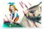 Cony Theis, Bunnies 6 (Heather), 2013, Aquarell, Tusche und Ölfarbe auf Transparentpapier, 29,7x42 cm