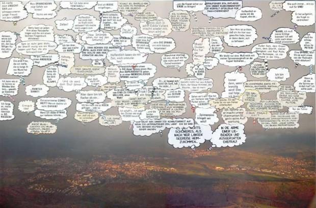 Miguel Rothschild Sturm, 2005, Collage auf Fotografie, 33x45 cm