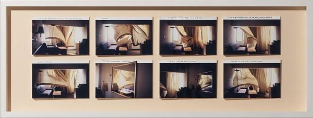 Nina Rhode, Tel Aviv, 2005, C-Print auf Karton, Fotoobjekt, Unikat, 40x19 cm, zweiteilig