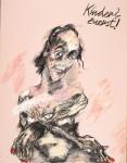 Peter Wehr, Kinder? zuerst!, 2017, Öl und Pastell auf Leinwand, 110x75 cm