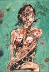 Peter Wehr, Ohrringe wozu?, 2017, Öl und Pastell auf Leinwand, 120x85 cm