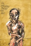 Peter Wehr, das Springtau macht den Takt, 2017, Öl und Pastell auf Leinwand, 110x75 cm