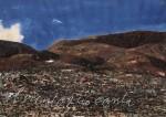 Peter Wehr, der Wind, der singt, Montañas Morros de Bayuyo, 2000, Wasserfarben und Kreide auf Papier, 70x100 cm