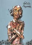 Peter Wehr, letzte Anprobe, 2017, Öl und Pastell auf Leinwand, 120x85 cm