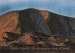 Peter Wehr, viel Wind, langsam trocknet, 2017, Wasserfarben und Kreide auf Papier, 70x100 cm