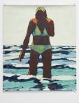 Peter Wehr, o.T. [Badende], 1983, 99 x 85 cm, Wasserfarben, Kreide auf Papier