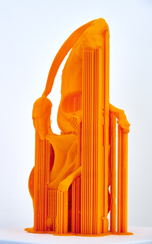 Fabian Hesse, Selfie [nach Robert Ashley: Perfect Lives], 3D Druck, PLA, Unikat, 2016, 30,5 x 17 x 10 cm