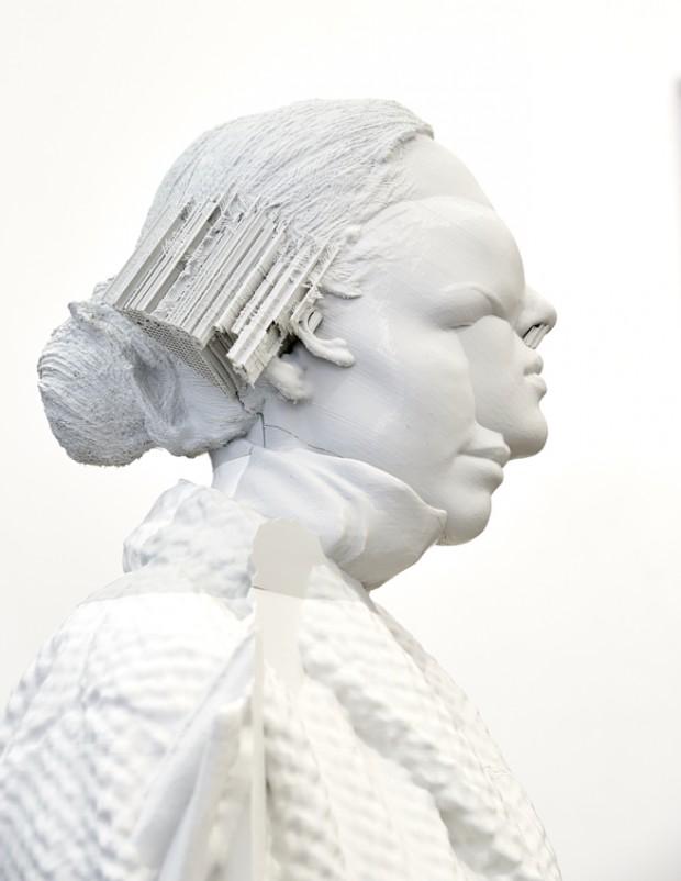 Fabian Hesse und Mitra Wakil, o.T. (Figur), 3D Druck, PLA-NX2, Unikat, 2017, 168 x 60 x 50 cm