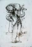 Ransome Stanley, o.T., 2017, Mischtechnik, 39 x 29 cm
