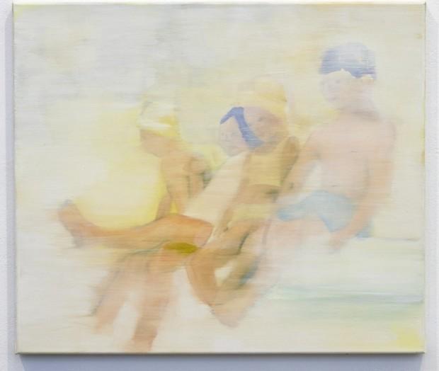 Barbara Petzold, Sommerlaune, 2017, Öl auf Leinen, 60 x 70 cm